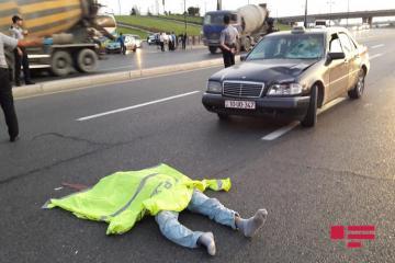 В Баку такси насмерть сбило мужчину - [color=red]ФОТО[/color]