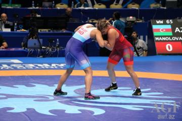 Азербайджанский борец завоевала бронзовую медаль ЧМ