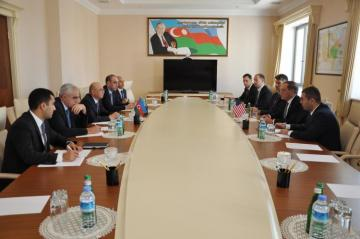 Kamaladdin Heydarov meets with Earle Litzenberger, US Ambassador to Azerbaijan