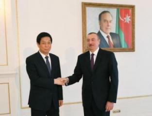 Президент Ильхам Алиев принял председателя Постоянного комитета Всекитайского собрания народных представителей