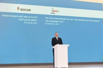 President Ilham Aliyev attends ceremony marking 25th anniversary of Contract of the Century and Oil Workers Day - [color=red]UPDATTED[/color]
