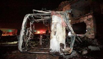 9 people killed in bus bombing South of Baghdad
