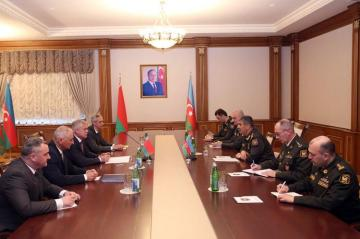Azerbaijan Defense Minister meets with the State Secretary of Security Council of Belarus