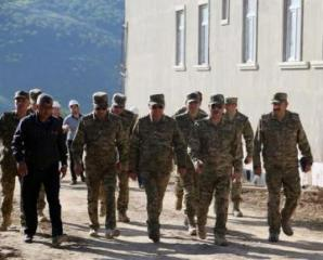 Azerbaijan Defense Minister visits military units being under construction in the frontline zone