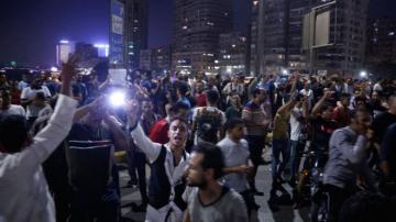 Egyptians protest against President Fattah al-Sisi