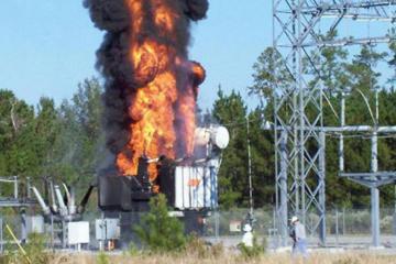 Şirvan şəhərində transformator yanıb