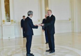 Azərbaycan Prezidenti Fransanın yeni səfirinin etimadnaməsini qəbul edib