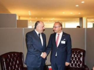 Foreign Minister Elmar Mammadyarov met his Croatian counterpart