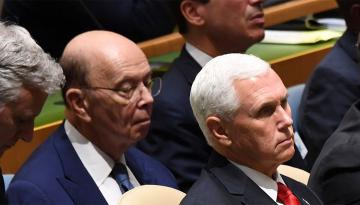 Американский министр заснул во время речи Трампа в ООН  - [color=red]ВИДЕО[/color]