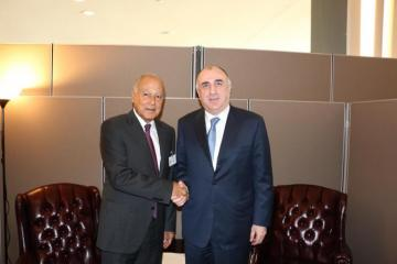 Azerbaijani Foreign Minister met with Secretary General of the League of Arab States