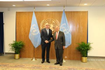 Глава МИД Азербайджана встретился с генсеком ООН