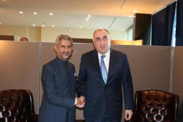 Azerbaijani FM meets with External Affairs Minister of India