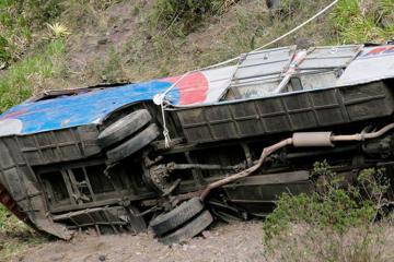 Boliviyada qəzada 18 nəfər ölüb, 17 nəfər yaralanıb