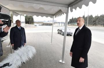 "Azerbaijani President: ""It was necessary to expand Baku-Sumgayit road"""