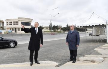 President Ilham Aliyev viewed work done as part of expanding Baku-Sumgayit highway - [color=red]UPDATED[/color]