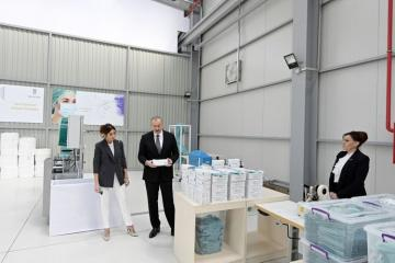 President Ilham Aliyev attended opening of medical masks manufacturing enterprise in Sumgayit Chemical Industrial Park - [color=red]UPDATED[/color]