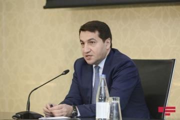 "Hikmet Hajiyev: ""120 states support Azerbaijan's sovereignty over illegal ""elections"" in Nagorno-Karabakh"""