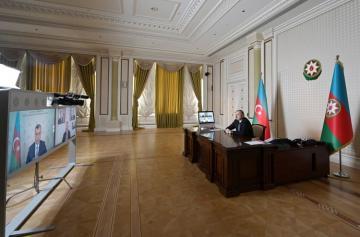 Prezident İlham Əliyev Sahil Babayev və Mikayıl Cabbarovun iştirakı ilə videobağlantı formatında iclas keçirib