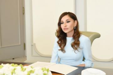 Первый вице-президент выразила благодарность Грузии за подсветку телебашни цветами азербайджанского флага