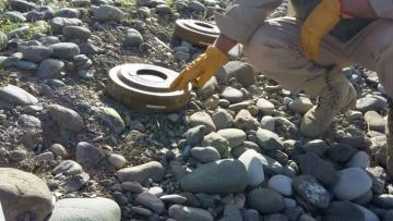 На берегу реки Тертер обнаружены противотанковые мины