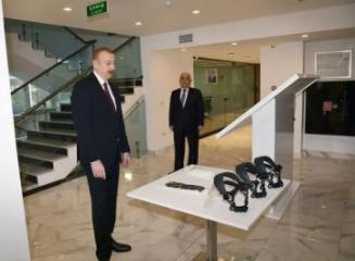Президент принял участие в открытии реконструированного комплекса ОАО «Азерэнержи»