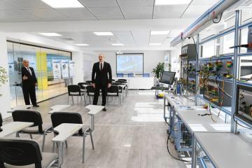 """Prezident """"Azərenerji"""" ASC-nin Baş idarəetmə, elm, tədris və laboratoriya kompleksinin açılışında iştirak edib"""