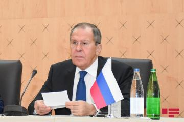 "Lavrov: ""Phased solution of conflict reflected in documents related to Garabagh issue that are actively discussed now"""