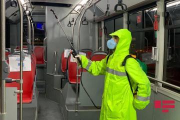 BNA: Hər gün 30 avtobus parkında dezinfeksiya işləri aparılır - [color=red]FOTO[/color]