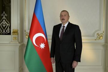 President Ilham Aliyev attends opening of a main gas pipeline laid to Sumgayit