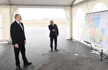 Prezident İlham Əliyev Sumqayıta çəkilən magistral qaz kəmərinin açılışında iştirak edib