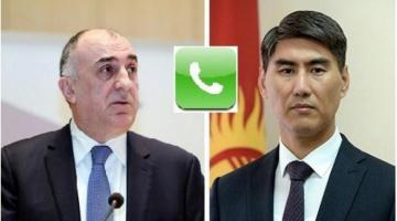 Azerbaijani and Kyrgyz Foreign Ministers had a telephone conversation