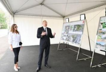 Prezident İlham Əliyev Yasamal rayonunda salınacaq meşə tipli yeni parkda görüləcək işlərlə tanış olub