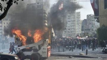 В Бейруте возобновились столкновения между демонстрантами и полицией