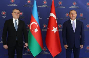 Azerbaijani and Turkish FMs hold meeting in expanded format - [color=red]UPDATED[/color]