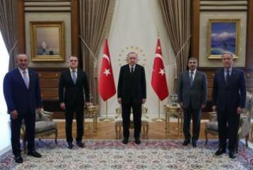 Türkiyə Prezidenti Ceyhun Bayramov və Zakir Həsənovu qəbul edib