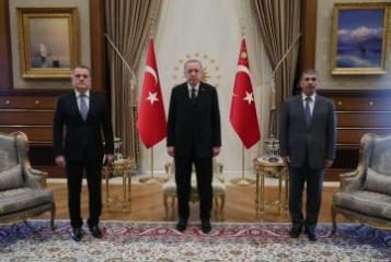 Turkish President receives Jeyhun Bayramov and Zakir Hasanov