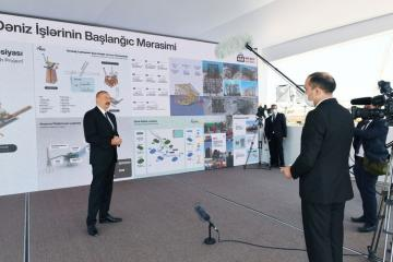 Президент Ильхам Алиев: Газ с месторождения «Шахдениз» будет поставляться в Грузию, Турцию, Болгарию, Грецию и Италию