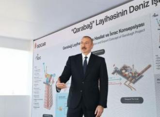 Президент Азербайджана: Считаю, что в конце 2022 года с месторождения «Карабах»  должны быть добыты первые газ и нефть