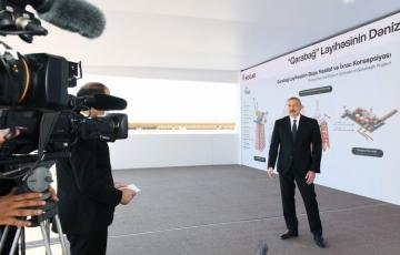"Azerbaijani President: ""I think that first gas and oil should be produced from Garabagh field at the end of 2022"""