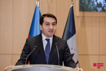 "Hikmat Hajiyev: ""Armenia is not interested in negotiations, tries to strengthen the occupation"""