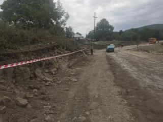 Ancient historical monument and art exhibits found during road construction in Azerbaijan's Ismayilli