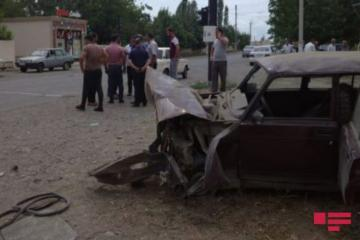 В Барде перевернулся автомобиль, есть пострадавший