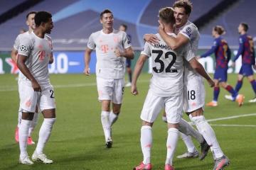 «Бавария»  вышла в полуфинал ЛЧ, разгромив «Барселону» со счетом 8:2