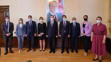 Turkish ambassador meets chairman of Azerbaijani community of Nagorno Garabagh region of Azerbaijan