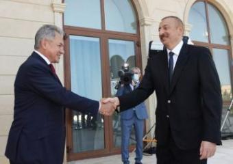 Azərbaycan Prezidenti Rusiya Müdafiə nazirini qəbul edib