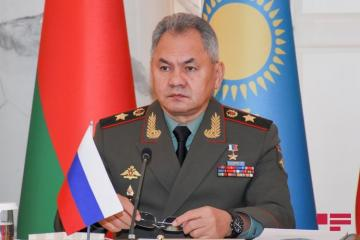 Russian Defence Minister Sergey Shoigu arrives in Azerbaijan