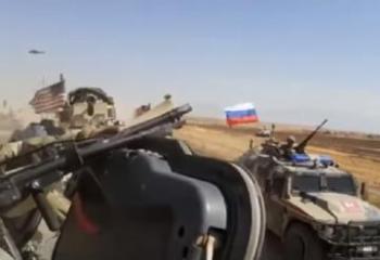 Появилось видео инцидента с российскими и американскими военными в Сирии - [color=red]ВИДЕО[/color]