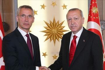 Türkiyə Prezidenti NATO-nun Baş katibi ilə Şərqi Aralıq dənizindən danışıb