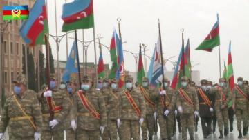 На посвященном Победе военном параде также будет продемонстрирована часть взятых у врага военных трофеев