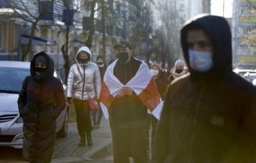 Minskdə etiraz aksiyaları zamanı 300-dən çox adam saxlanılıb